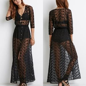 COMING SOON! F21 Floral Embroidered Sheer Dress
